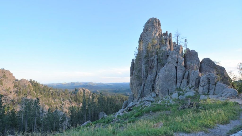 View from the Needles Highway at Custer State Park in the Black Hills of South Dakota