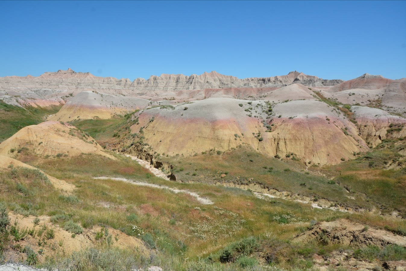 Colored Hills in Badlands National Park