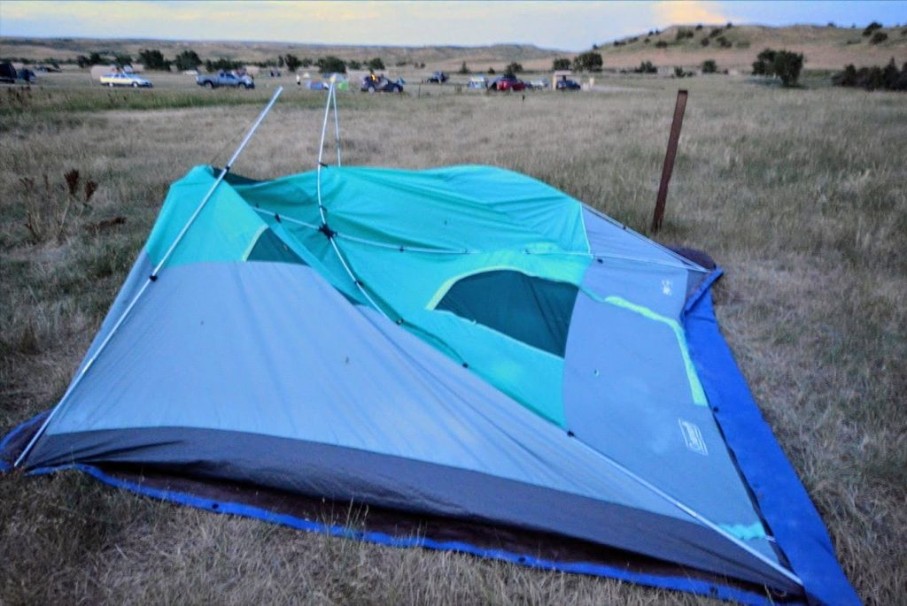 If Badlands is anything, its windy. Our $100 Costco tent was destroyed by wind alone