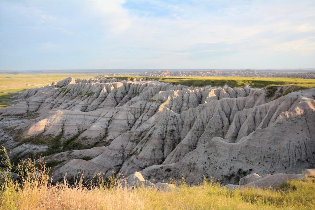 Classic view in Badlands National Park