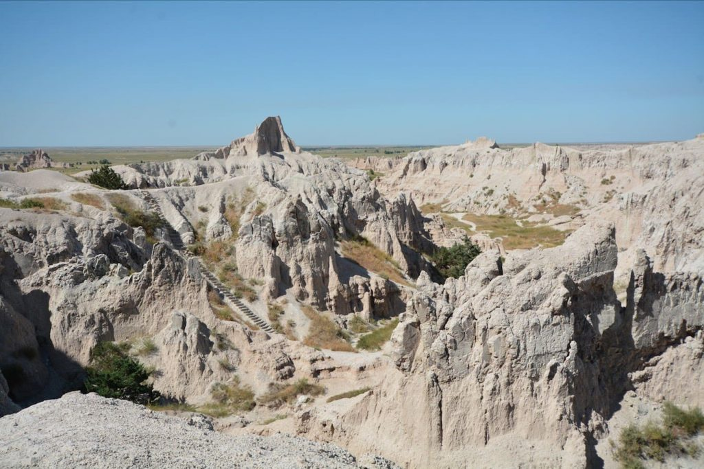 Long staircase in Badlands National Park, South Dakota