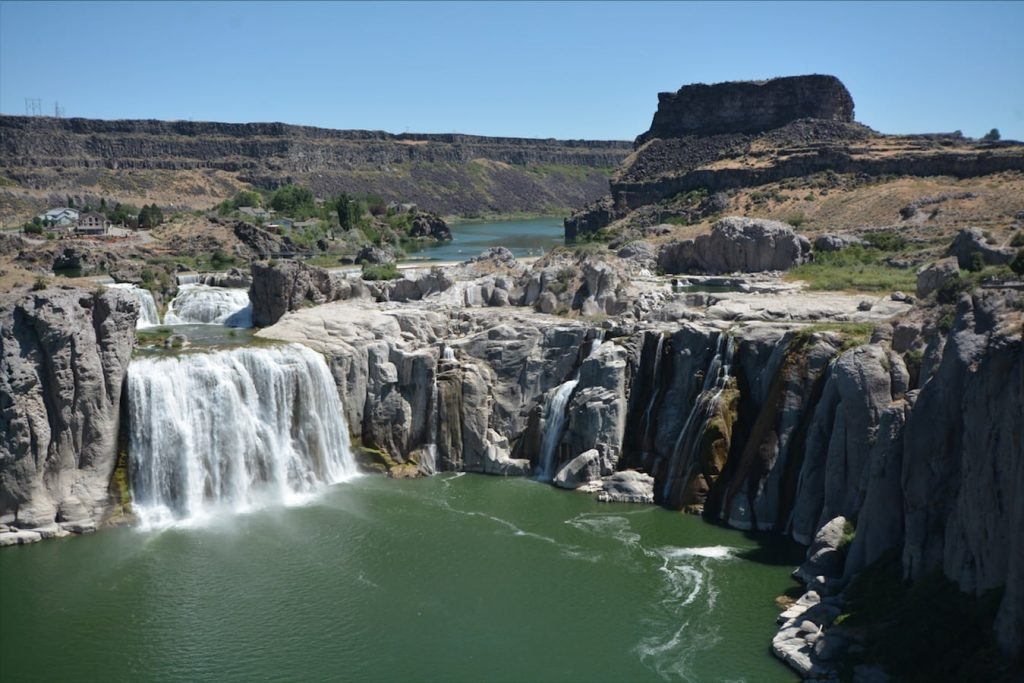 "Shoshone Falls in southiern Idaho is known as ""the Niagara of the west."""